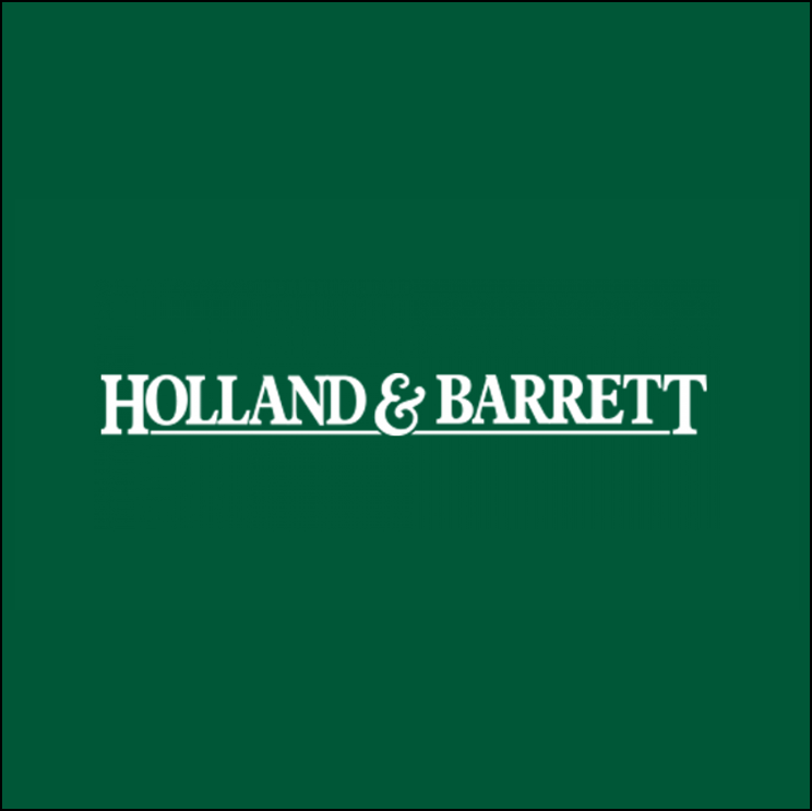 Holland and barrett logo, green and white